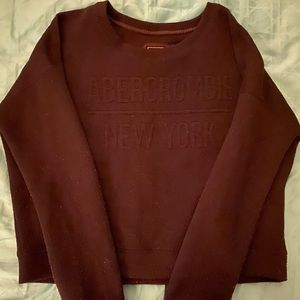 Slightly cropped Abercrombie New York Sweater
